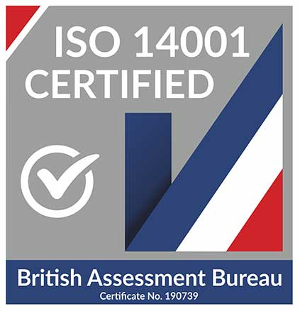 The British Assessment Bureau certifies MCL to ISO-14001 quality standards.