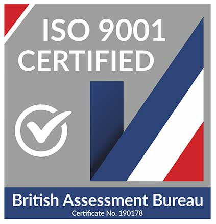 The British Assessment Bureau certifies MCL to ISO-9001 quality standards.