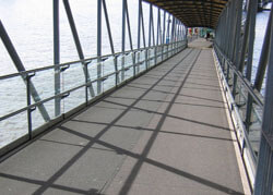 MCL load bearing anti-slip panels installed at Blackfriars Pier, London EC4V, for main Contractor Nuttall in 1999.