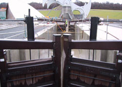 Timber Lock Gates ready to use
